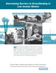 Overcoming Barriers to Breastfeeding in Low-Income Women