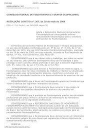 resolução coffito nº 367, de 18 de junho de 2009 - Crefito | Conselho ...