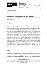 Nachdenken über das 20. Jahrhundert - WDR 3