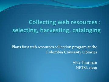 netsl 2009 - Columbia University Libraries