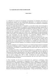 La coopration universitaire institutionnelle - Cooperation at EPFL