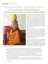 Remembering The Kindness Of Khensur Rinpoche Lama Lhundrup