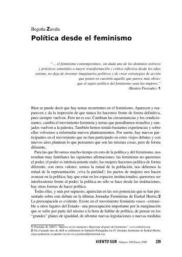 Política desde el feminismo - Viento Sur
