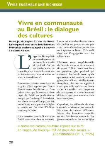 Vivre en communauté au Brésil : le dialogue des cultures