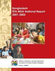 Bangladesh EFA MDA National Report 2001-2005 - United Nations ...