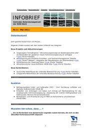 Infobrief ZDM 5 (30.05.2011) - Küstendaten