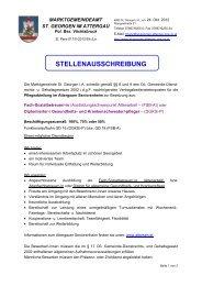 STELLENAUSSCHREIBUNG - St. Georgen im Attergau