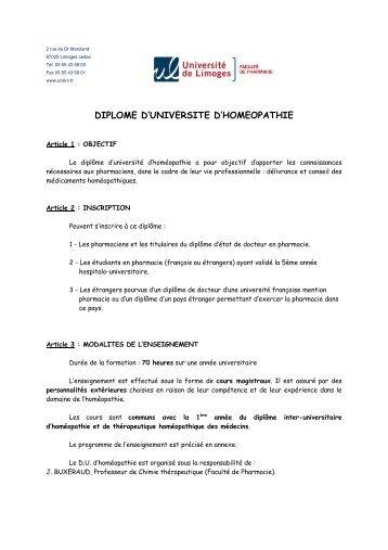 universite de limoges - faculte de pharmacie - Faculté de Médecine ...