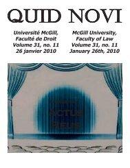 January 26, 2010 - Latest Issue - McGill University