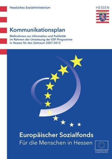 08 05 28 2. Fassung Kommunikationplan_ESF_Hessen - ESF Hessen