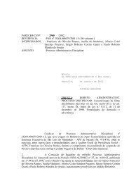 PARECER/CJ/Nº /2001 - Ministério da Previdência Social