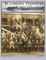 4 - Kirkland Heritage Society