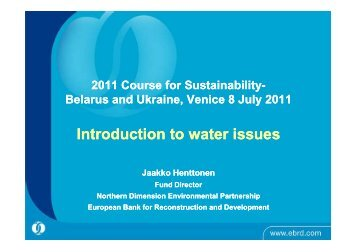 Introduction to water issues - Sustainable Development Academy