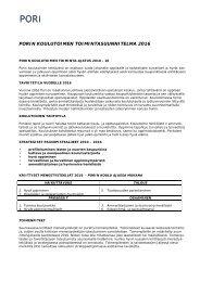 Koulutoimen toimintasuunnitelma 2016 - Pori