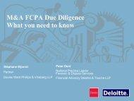 FCPA - Davies Ward Phillips & Vineberg LLP