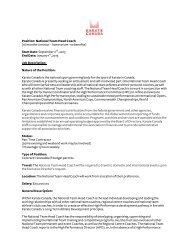 in order to see the full job posting - Karate Canada