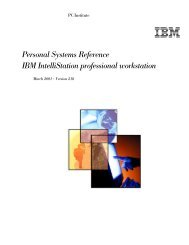 IBM IntelliStation professional workstation