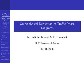 On Analytical Derivation of Traffic Phase Diagrams