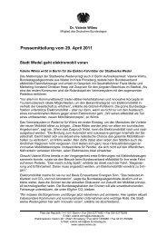 Pressemitteilung vom 29. April 2011, Dr. Valerie Wilms, Mitglied des ...