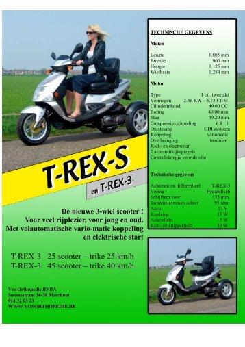 T-REX-3 25 scooter – trike 25 km/h T-REX-3 45 scooter – trike 40 km/h