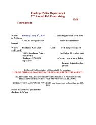 Buckeye Police Department 2 Annual K-9 Fundraising Golf ...