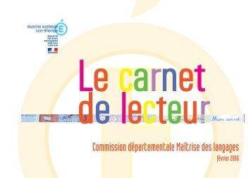 LIVRET Carnet de lecteur.indd - Inspection de la Goutte d'Or (18B)