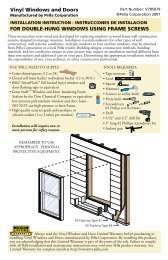 FOR DOUBLE-HUNG WINDOWS USING FRAME ... - Pella.com