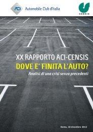 Rapporto ACI - Censis