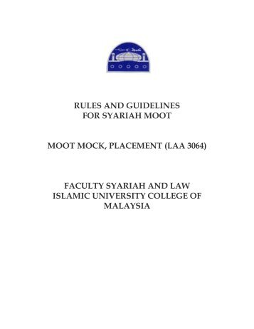guidelines for shariah moot