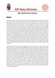New Zealand dairy industry - IUF