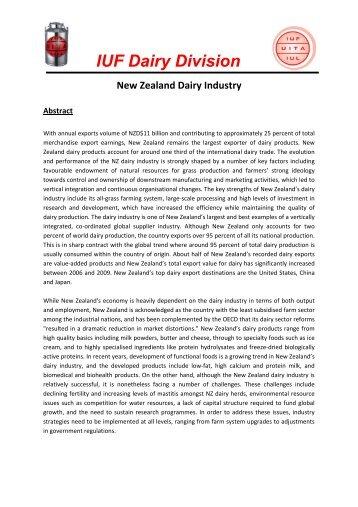 New Zealand dairy industry - IUF