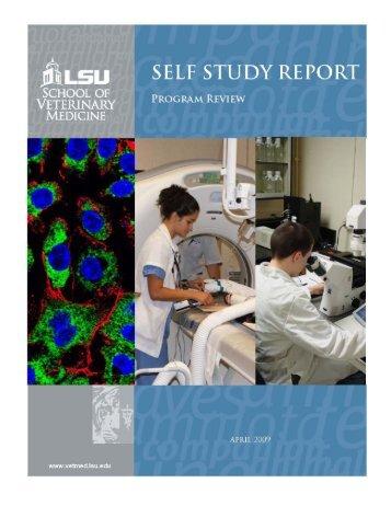 Self Study, Program Review 2009 - School of Veterinary Medicine ...