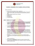 EXAMPLE ANSWERS FOR FUNDING APPLICATIONS - Page 4