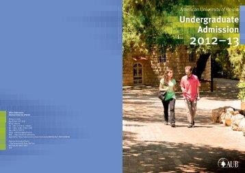 Undergraduate Admission - American University of Beirut