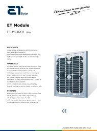 ET Solar PV Module - ET-M53610