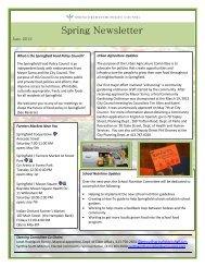 SFPC Spring June 2012 Newsletter - City of Springfield