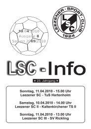 LSC INFO 2009/2010 Ausgabe 8 - Leezener SC