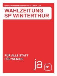 WAHLZeitUNG SP WiNteRtHUR - SP Bezirk Winterthur