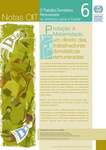 A proteção da maternidade é um dos direitos mais importantes ... - OIT