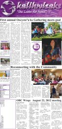 August 23 - The Oneida Nation of Wisconsin