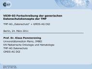 Fortschreibung der generischen Datenschutzkonzepte der TMF