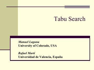Tabu Search Tutorial