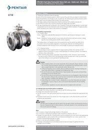 KTM OM-2 Split Body Floating Ball Valves - Pentair Valves & Controls