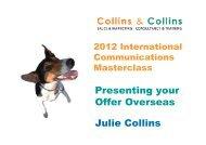 Presenting your Offer Overseas Julie Collins - Emita