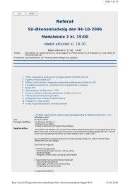SU-Økonomiudvalg den 2006-10-04 - Billund Kommune