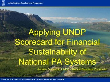 Applying UNDP Scorecard for Financial Sustainability of National ...