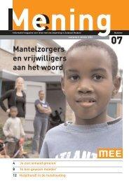 Mening nr 7, okt2006 - MEE Zuidoost Brabant