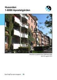 Husorden 1-6080 Apostelgården - Boligforeningen 3B