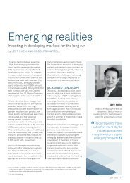 Emerging realities - Funds People
