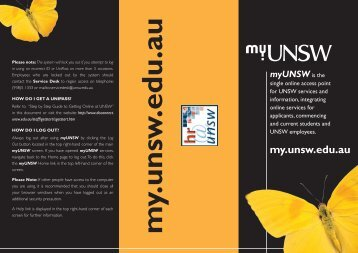 myUNSW brochure.indd - Human Resources